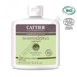 Champú cabellos grasos arcilla verde Cattier 250 ml. -