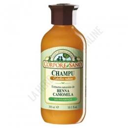 Champú a la Henna Camomila cabellos rubios Corpore Sano 300 ml. -
