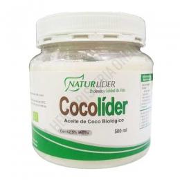 CocoLider Aceite de Coco Biológico Naturlider 500 ml. - CocoLider de Naturlider es aceite de Coco 100% BIO (de cultivo Biológico Controlado) ideal como aceite para untar y para aliñar ensaladas.