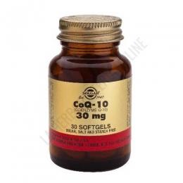 Coenzima Q-10 Solgar 30 mg. 30 vegicaps  - Coenzima Q10 de Solgar contiene 30 mg. por cápsula vegetal y se administra en una sola toma al día.