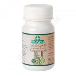 Cola de caballo Sotya 100 comprimidos - Los comprimidos de Cola de caballo de Sotya aportan 350 mg. de planta de cola de caballo y 50 mg. de frutooligosacáridos.