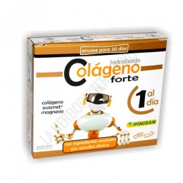 Colageno con Magnesio Forte 1 al día Pinisan 30 cápsulas - ¡NOVEDAD! Por fin un Colágeno con Magnesio concentrado: Sólo 1 cápsula al día. Colageno Forte de Pinsan contiene además ingredientes avalados por estudios clínicos y 1 sólo blister de 30 cápsulas dura todo el mes.
