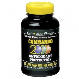 Commando 2000 antioxidante Natures Plus 60 comprimidos -
