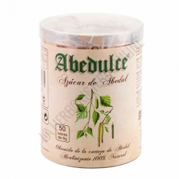Abedulce Azúcar de Abedul monodosis 50 sobres de 8 gr. - El Azúcar de Abedul Abedulce es un edulcorante de mesa a base de Xilitol de bajo índice glucémico (IG7) apto para diabéticos y 100% natural. La alternativa sana al azúcar común, apta para toda la familia.