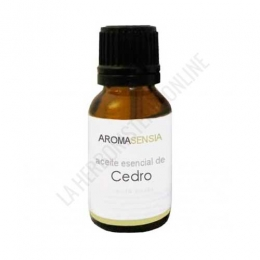 Aceite esencial de Cedro Aromasensia 15 ml. - El Aceite Esencial de Cedro Aromasensia de pureza garantizada es de aroma amaderado y destaca por su acción calmante, resultando ideal para ayudar a aliviar la tensión y los estados de ansiedad. Además, actúa como repelente de insectos.