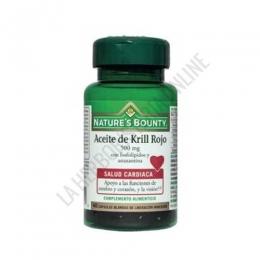 Aceite de Krill Rojo 500 mg. Natures Bounty 40 cápsulas