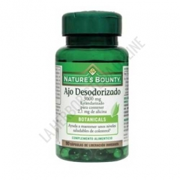 Ajo desodorizado 3000 mg. estandarizado Natures Bounty 50 cápsulas