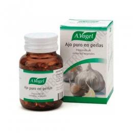 Ajo Puro en perlas A. Vogel 120 perlas - Ajo Puro en perlas de A. Vogel aporta 270 mg. de Ajo puro fresco por cápsula, en prácticas perlas de gelatina vegetal que, al disolverse en el intestino, evitan el desagradable aliento a
