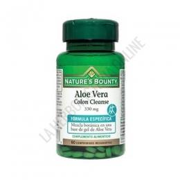 Aloe Vera Colon Cleanse 330 mg. Natures Bounty 60 comprimidos -