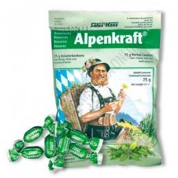 Caramelos balsámicos Alpenkraft vías respiratorias 75 gr. - Los caramelos balsámicos Alpenkraft, a base de hierbas alpinas, están elaborados según una receta exclusiva que contiene ingredientes de máxima calidad como el azúcar de caña, la miel, mezcla de plantas y aceites esenciales.