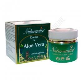 Crema facial hidratante y reparadora de Aloe Vera Naturandor Fleurymer 50 ml.