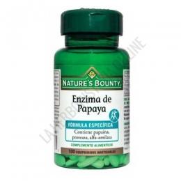 Enzima de Papaya Natures Bounty 100 comprimidos masticables -