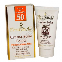 Crema solar facial Anti-Arrugas FPS 50 Fleurymer 80 ml.