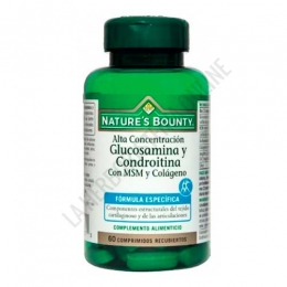 Glucosamina Condroitina con MSM y Colágeno Natures Bounty 60 comprimidos -