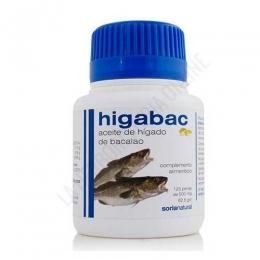 Higabac Aceite de Hígado de Bacalao Soria Natural 125 perlas -