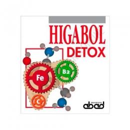 Higabol Detox (antiguo Dinamivit) Laboratorios Abad (anteriormente Kiluva) 20 sobres - Higanol Detox sobres de Laboratorios Abad contribuye (como detoxicador heptático) a excretar el excedente de amoníaco, evitando así su posible acumulación tóxica.