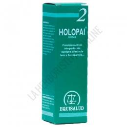 Holopai 2 Depuración General Equisalud 31 ml. - Holopai 2 de Equisalud es una composición a base de plantas especialmente útiles para ayudar a la depuración y detoxificación del organismo actuando a nivel de hígado, vesícula biliar y riñones.
