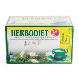 Herbodiet Eficacia Renal Novadiet 20 infusiones - Herbodiet Eficacia Renal son infusiones ideales para facilitar la eliminación de líquidos y el trabajo del riñón. A base de Grama de las Boticas, Cola de Caballo, Ortosifón y Herniaria.