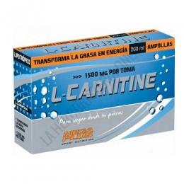 L-Carnitina 1500 mg. líquida Mega Plus 20 ampollas - L-Carnitine 1500 Mega Plus aporta 1500 mg. de L-Carnitina y 2 mg. de vitamina B6 por cada botellita individual, con un agradable sabor a limón.