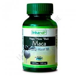 Maca Negra gelatinizada 100% pura y natural 500 mg. Inkanat 100 cápsulas
