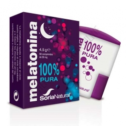 Melatonina 100% pura 1 mg. Soria Natural 90 comprimidos