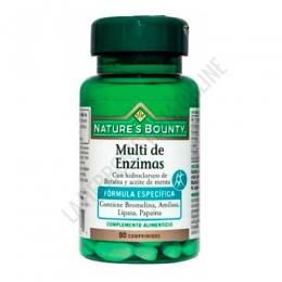 Multi de Enzimas con Betaina y Aceite Menta Natures Bounty 90 comprimidos -