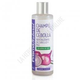 Champú Revitalizante de Cebolla con aroma de Coco Prisma Natural 250 ml.