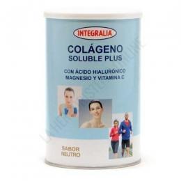 Colageno soluble Plus sabor neutro con Acido Hialuronico, Magnesio y Vitamina C Integralia 360 gr. - El Colágeno Hidrolizado de Integralia contiene 10 gr. de colágeno hidrolizado por dosis, además del 100% recomendado de Magnesio y Vitamina C + 10 mg. de ácido hialurónico. Envase para 30 días de toma.