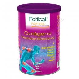 OFERTA - Forticoll Fortigel Colágeno con Ácido Hialurónico, Vitaminas y Minerales Almond 300 g - Forticoll Colágeno es una fórmula única y concentrada de colágeno en polvo con péptidos bioactivos de colageno (Fortigel®), sales de calcio y de magnesio, vitamina C, vitamina D, vitamina K2-7 natural y ácido hialurónico. Aporta 9,85 g. de colágeno por toma y más del 200% del VRN de los minerales y vitaminas que contribuyen al mantenimiento de cartílagos, huesos, piel y músculos.