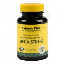 Mega Stress Natures Plus 30 comprimidos - Mega Stress de Natures Plus es una formulación ideal para ayudar a reponer la energía del organismo, muy útil para ayudar a combatir situaciones de estrés e irritabilidad.