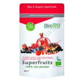 Superfruits Raw 100% polvo crudo BIO Biotona 200 gr. -