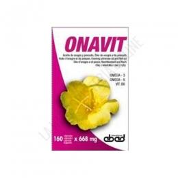 Onavit (antiguo Onaplus) aceite de onagra Laboratorios Abad (anteriormente Kiluva) 160 cápsulas - Onaplus de Kiluva es una fórmula específica para el cuidado de la mujer, a base de Aceite de Onagra de 1ª presión en frío, concentrado de aceites marinos y vitamina E natural.