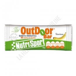 Barrita Outdoor Bar energética sin cobertura Nutrisport plátano 40 gr.
