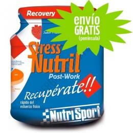 Stressnutril recuperador Nutrisport sabor fresa 800 gr. - Stressnutril de Nutrisport es un completo recuperador post-esfuerzo que constituye un aporte de aislado de Proteína de suero lácteo con Hidratos de carbono, Aminoácidos Ramificados, L-GLutamina, Magnesio y Vitaminas.PRODUCTO CON ENVÍO GRATIS A ESPAÑA PENÍNSULAR Y PORTUGAL.