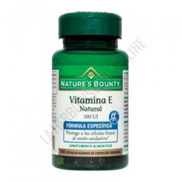 Vitamina E natural 200 ui Natures Bounty 100 cápsulas -