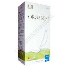 Compresas hipoalergénicas con alas Organyc 100% algodón orgánico regular 10 uds. -