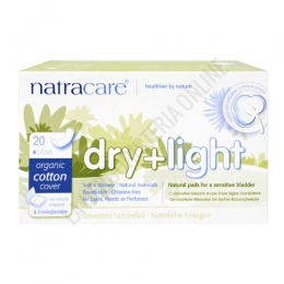 Compresas Dry+Light incontinencia Natracare 20 uds. -