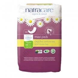 Compresas naturales algodón orgánico Natracare regular 14 uds. -