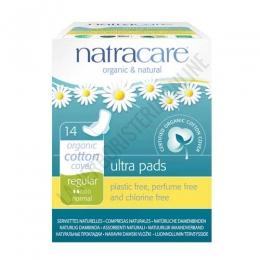 Compresas algodón orgánico regular alas Natracare 14 uds. -