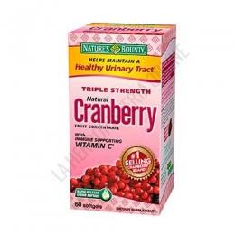 Arándanos agrios con Vitamina C Natures Bounty 60 perlas - Triple Strength Cranberry de Natures Bounty con vitaminas C y E es una fórmula de máxima potencia y concentración de extracto seco del fruto de arándano agrio americano. Sólo 2 perlas al día.