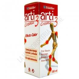 Crema Arti 3 Ynsadiet 150 ml. - Arti 3 de Ynsadiet es una crema calmante con efecto calor a base de Sauce, Harpago, Árnica, Cúrcuma y Glucosaminas, especialmente indicada para ayudar a aliviar las molestias articulares y musculares cotidianas.