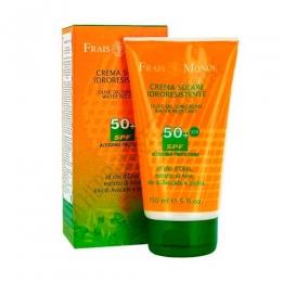 Crema solar corporal FPS 50+ Frais Monde 150 ml. - La Crema solar corporal FPS 50+ Frais Monde es apta para todo tipo de pieles y está especialmente recomendada para pieles sensibles y niños. Resistente al agua, incluso después de varios baños.