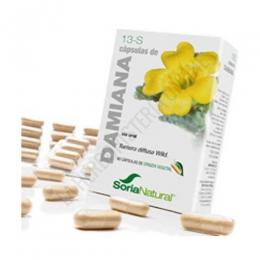 Damiana 13-S Soria Natural 60 cápsulas - Las cápsulas de Damiana de Soria Natural son especialmente útiles como tonificantes en general y estimulantes a nivel sexual, tanto para hombre como para mujer.