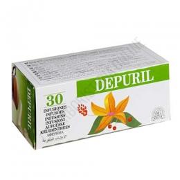Depuril 30 infusiones Laboratorios Abad (anteriormente Kiluva) - Depuril es una fórmula de plantas especialmente útiles para la depuración de las impurezas del organismo y la sangre, en prácticas bolsitas para infusión. PRODUCTO DESCATALOGADO POR EL LABORATORIO FABRICANTE.