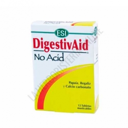 DigestivAid No Acid acidez estomacal Esi 12 comprimidos masticables