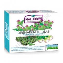 Drenaben depurativo 10 días Naturben 10 viales - Drenaben 10 días de Naturben es un complemento ideal para ayudar a eliminar toxinas del organismo a nivel global (riñón, hígado, intestino, pulmón y piel) con un agradable sabor a cereza.