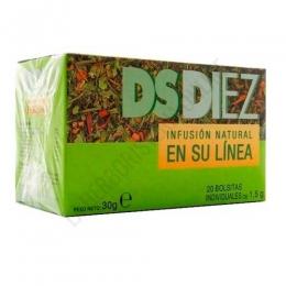DsDiez infusión natural en su línea 20 bolsitas - DsDiez en su línea es una formulación específica de plantas especialmente indicada para complementar dietas de control de peso.