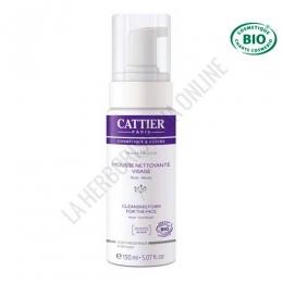 Espuma limpiadora facial sin jabón Cattier 150 ml.