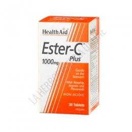 Ester-C® Plus 1.000 mg. Health Aid 30 comprimidos - Ester C Plus de Health Aid es una forma no ácida de Vitamina C de alta absorción y suave con el estómago por su PH neutro.