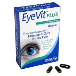 EyeVit Plus Health Aid 30 cápsulas - Eye-Vit Plus de Health Aid contiene los nutrientes específicos para ayudar a mantener y cuidar la salud de los ojos.